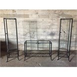 3 GLASS DISPLAY UNITS