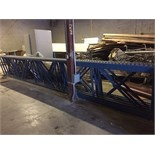 """WAREHOUSE RACKING 24ft LONG x 42"""" WIDE (BIDDING IS PER SECTION OF RACKING MULTIPLIED BY 7)"""