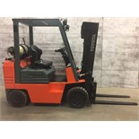 TOYOTA (NO. A 424992 TAKAHAMA) 5,000LBS LP PROPANE 3 STAGE SIDE SHIFT FORKLIFT (PROPANE TANK NOT