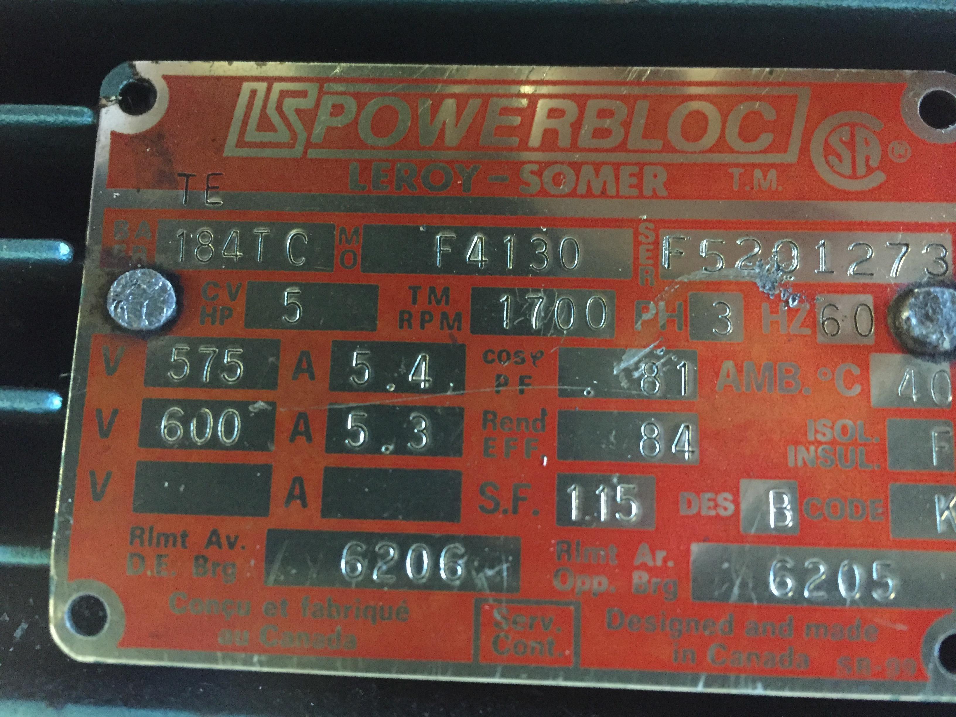 LS POWERBLOC PUMP, MODEL #F4130, SERIAL #F5201273 - Image 3 of 3