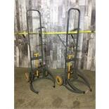 LOT OF 2 BARREL DOLLIES