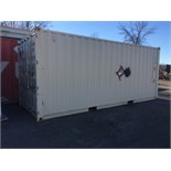 WHITE 20ft SEA CONTAINER - FREE LOADING WITH FORKLIFT