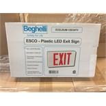 BEGHELLI, ESCO - PLASTIC LED EXIT SIGN, ECELRUM - 120/347V, 142 UNITS IN TOTAL