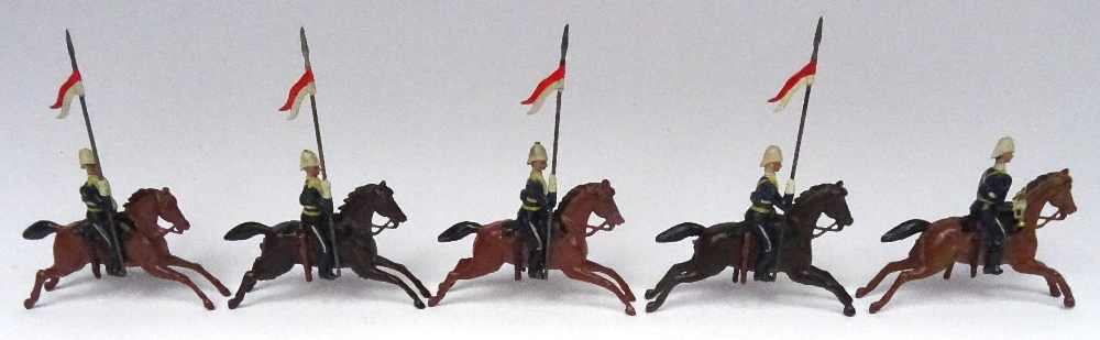 Lot 7 - Britains set 81, 17th Lancers in 'Ulundi' service dress