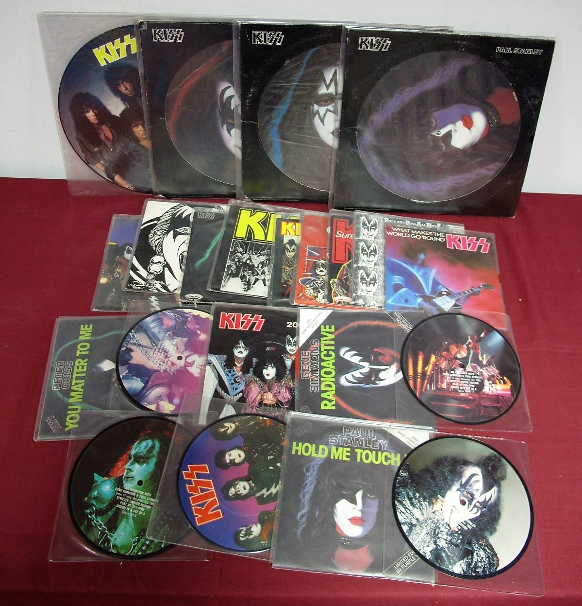 """Lot 18 - Kiss Interest - A good collection of Twelve 7"""""""" and 12"""""""" picture discs/limited edition coloured"""