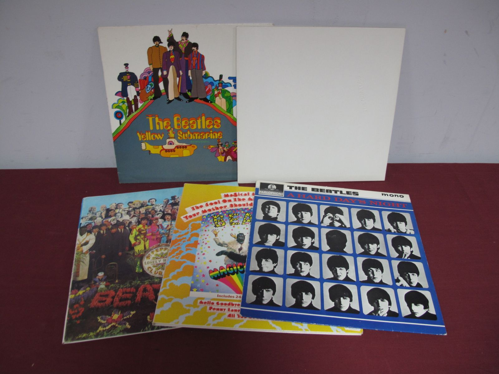 Lot 45 - Beatles - Four Re-Issue LP's, including 'White Album', A Hard Days Night, Magical Mystery Tour and