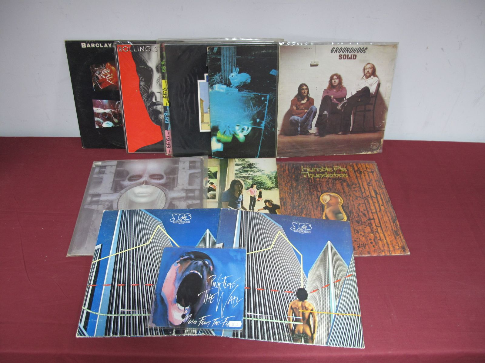 Lot 34 - Pink Floyd 'Ummagumma' (Harvest 1969, 2LP no boxed EMI logo, stereo) and other LP's - Barclay