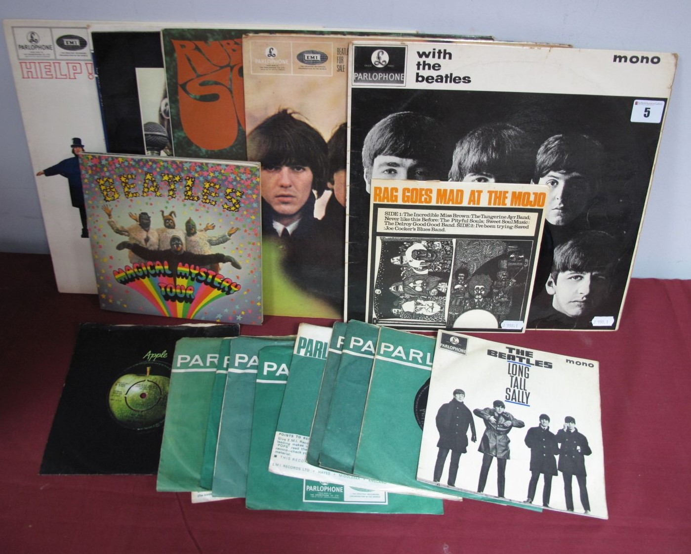 Lot 5 - Beatles Interest - Six LP's, to include With The Beatles, For Sale, Rubber Soul, Help, Let it Be,