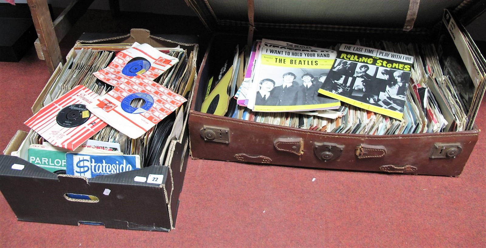 Lot 22 - A Large Collection of Mostly 1960's -70's 45RPM's, including Surfaris, Ivy League, Millie, Rockin