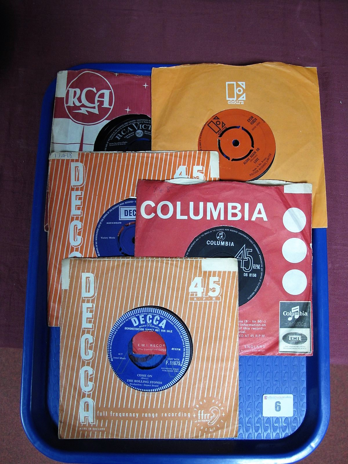 Lot 6 - Rolling Stones 'Come On' b/w 'I Want To Be Loved', Decca F.11675, rare copy to find and this one