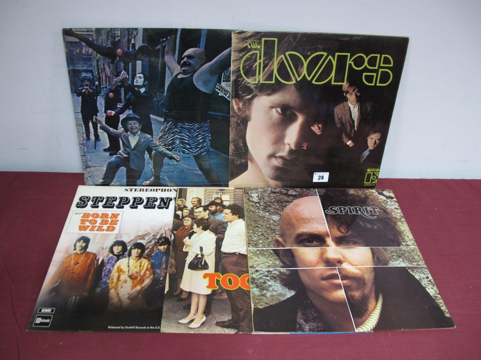 Lot 24 - 60's US Rock LP's - Doors 1st, (stereo EKS-74007, textured orange, Polydor credit, Patent Applied