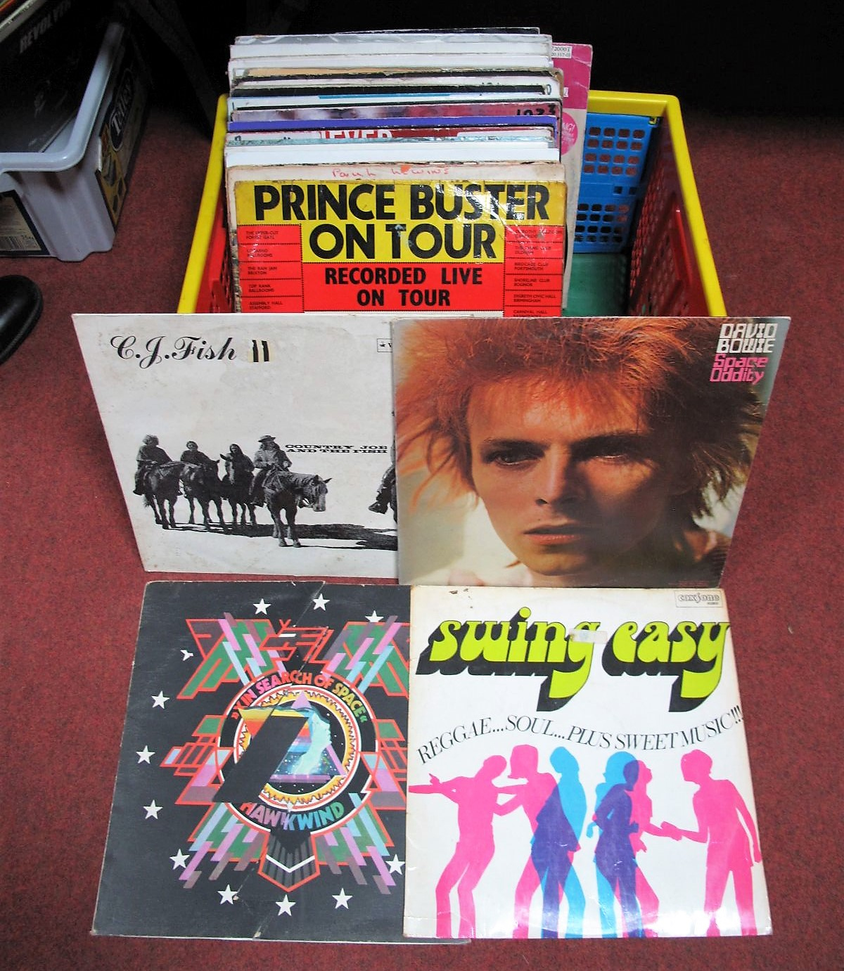 """Lot 31 - A Quantity of LP's and 12"""" Singles, (1960's-90's) including the rare 'Swing Easy' 1969 on Coxsone"""