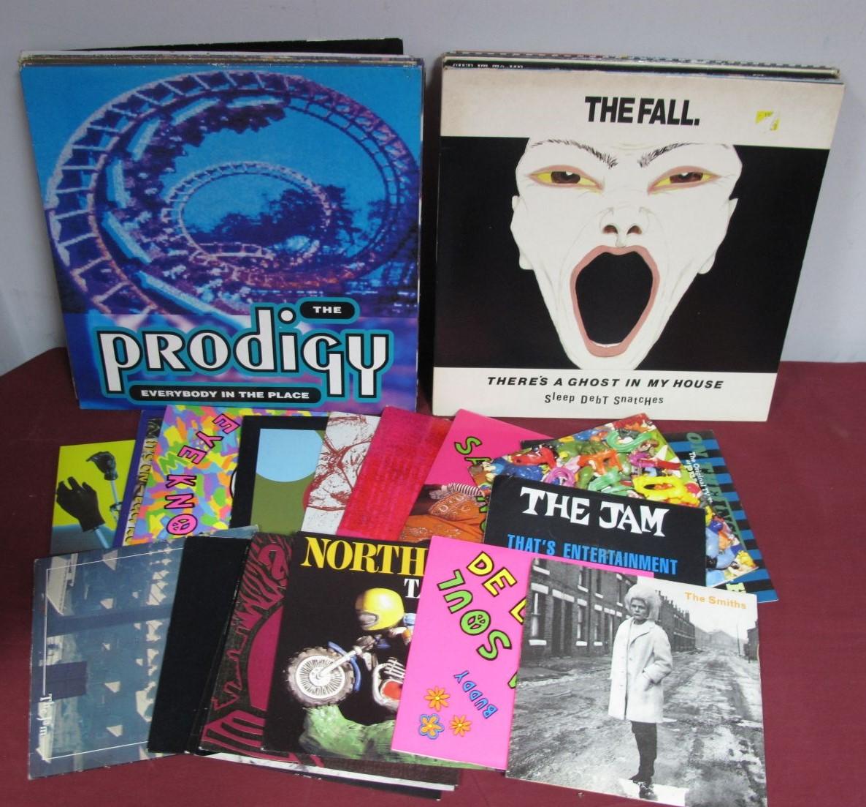 """Lot 12 - Indie and Pop - LP's, 12"""" singles, 45's to include the Jam, Smiths, Kraftwerk, Northside, De La"""