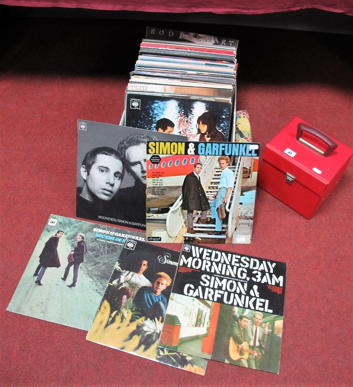 Lot 42 - American Folk Interest - A Collection of Over Twenty LP's, to include six Simon and Garfunkel, Tom