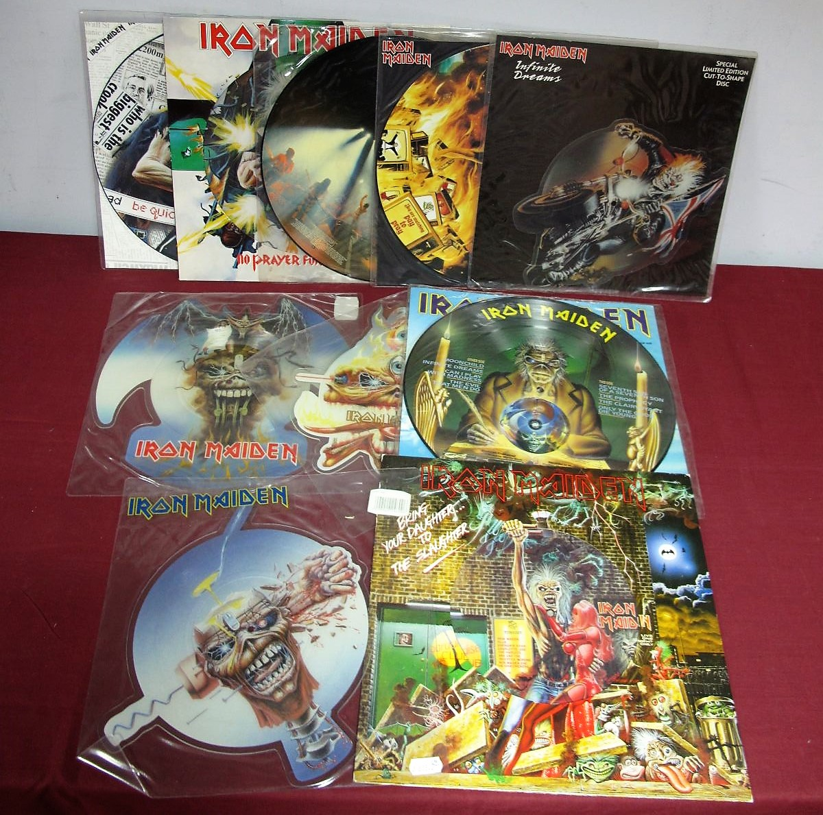 Lot 49 - Iron Maiden - A Great Collection of Ten Picture Discs (including four cut-to-shape examples) -