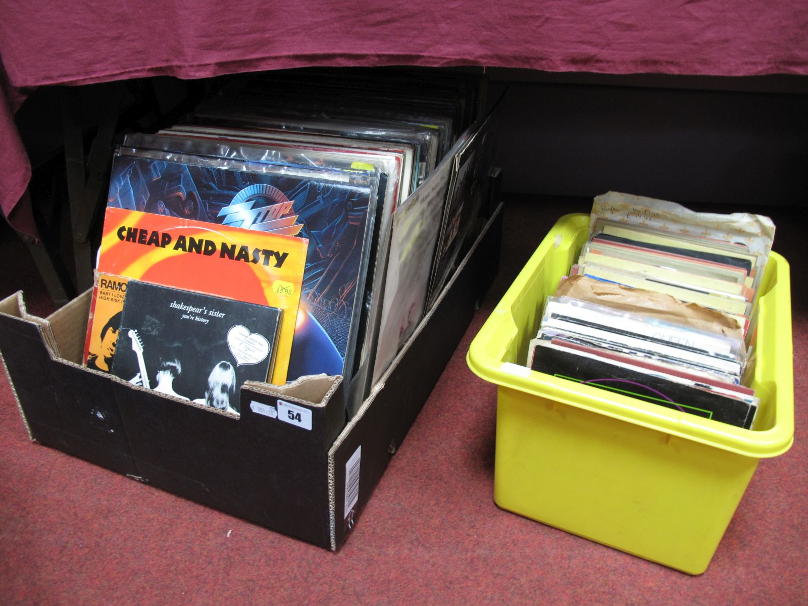 Lot 54 - A Quantity of LP's, 45RPM and EP's, to include Elvis, Ramones, Queen, Nine Inch Nails, Iggy Pop,