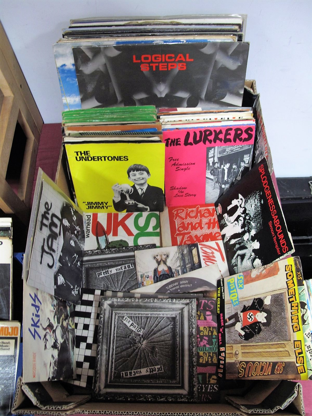 "Lot 1 - Punk Interest - 7"" selection, including 2 Sex Pistols 'Pretty Vacant' 7"", Lurkers, Richard and the"