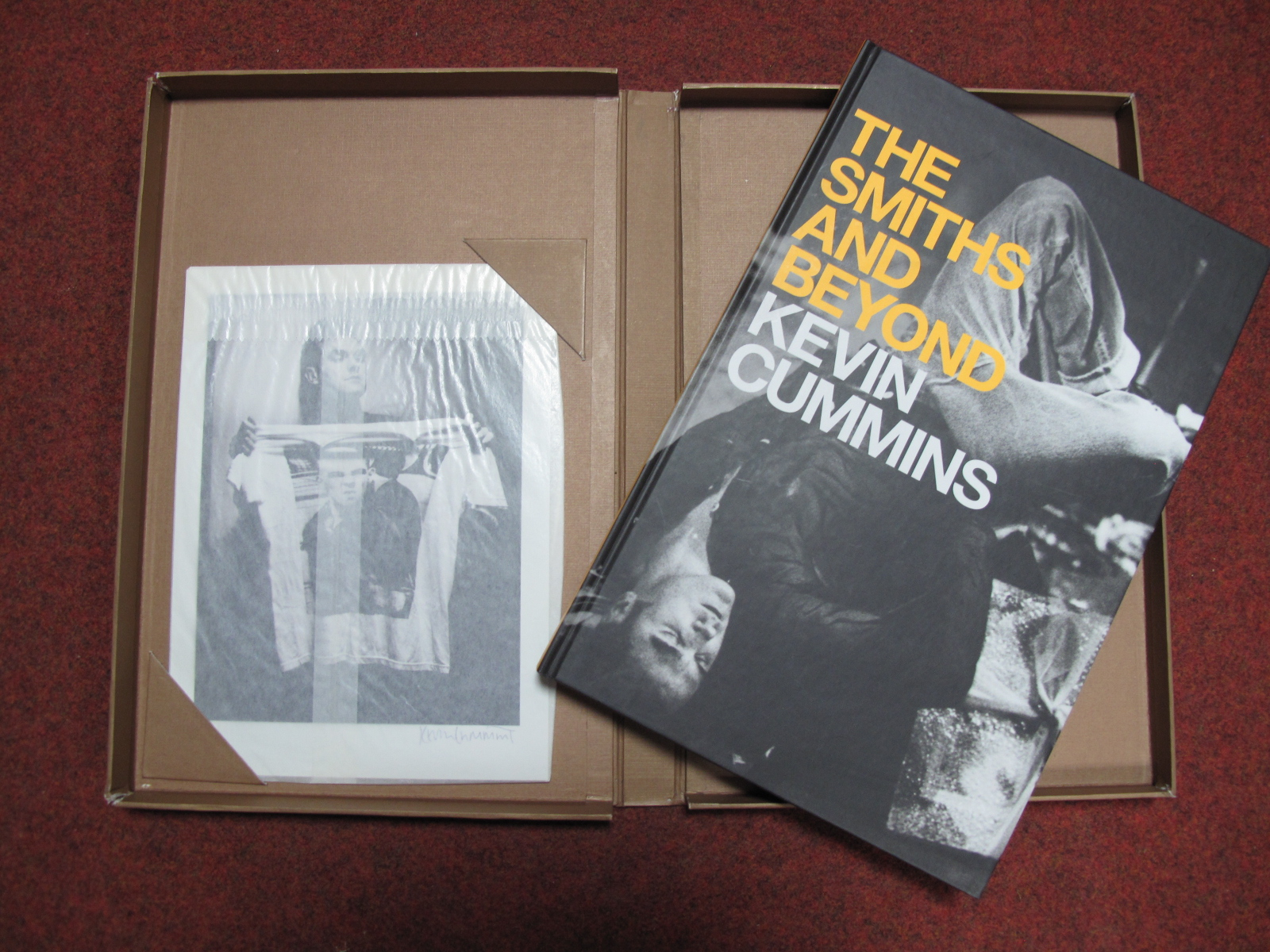 Lot 12A - Kevin Cummins - 'The Smiths And Beyond', Author Signed Limited Edition Hardback Pictorial Book,