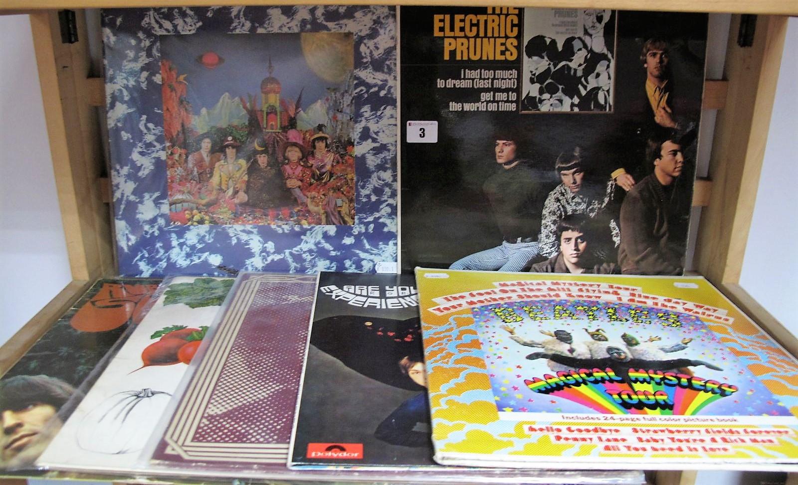 Lot 3 - Psych/Rock LP's - 'Satanic Majesties LP (Stereo, green boxed Decca, 1969); Electric Prunes s/t LP (