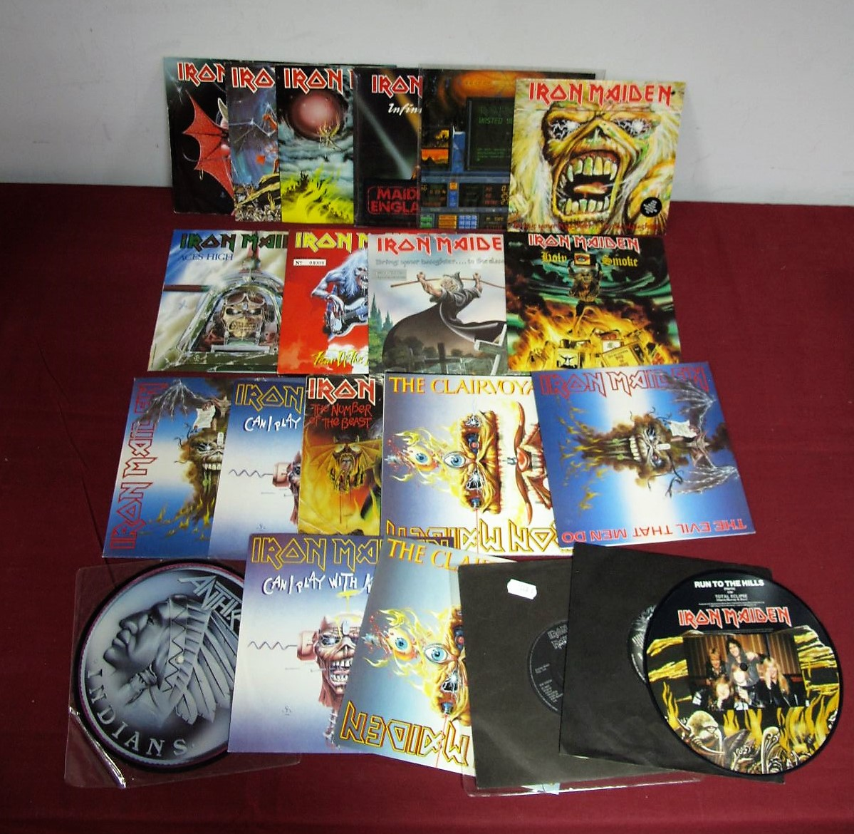 "Lot 28 - Iron Maiden - A Good Collection of 20 Iron Maiden 7"" Singles - to include Can I Play With Madness,"