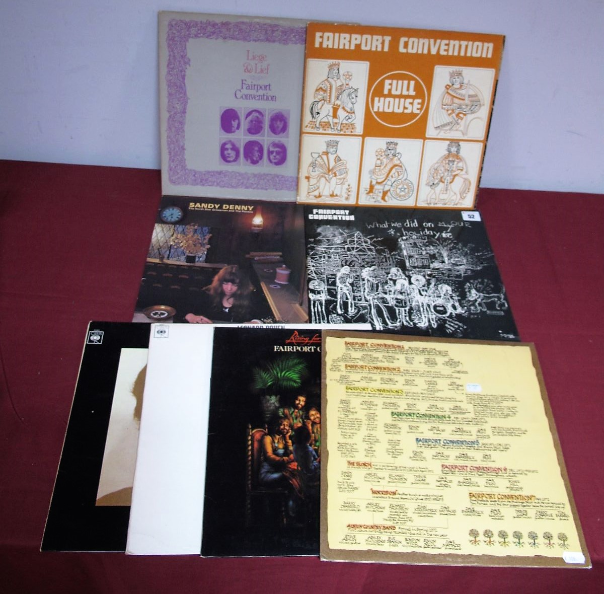Lot 52 - Folk Interest: Fairport Convention 'Liege and Lief' LP 1969, large 'i' label, Island stereo