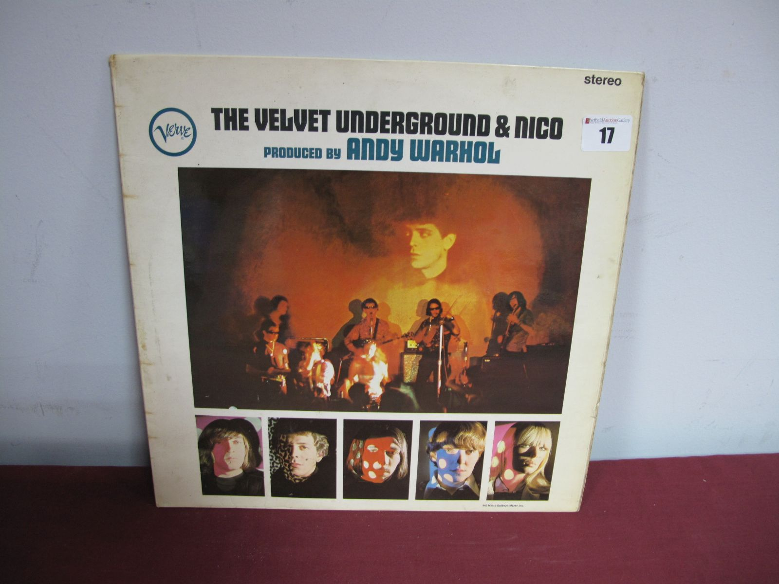 Lot 17 - 'Velvet Underground & Nico' Stereo LP, 1967, (black/silver verve), SVLP 9184, flip back laminated