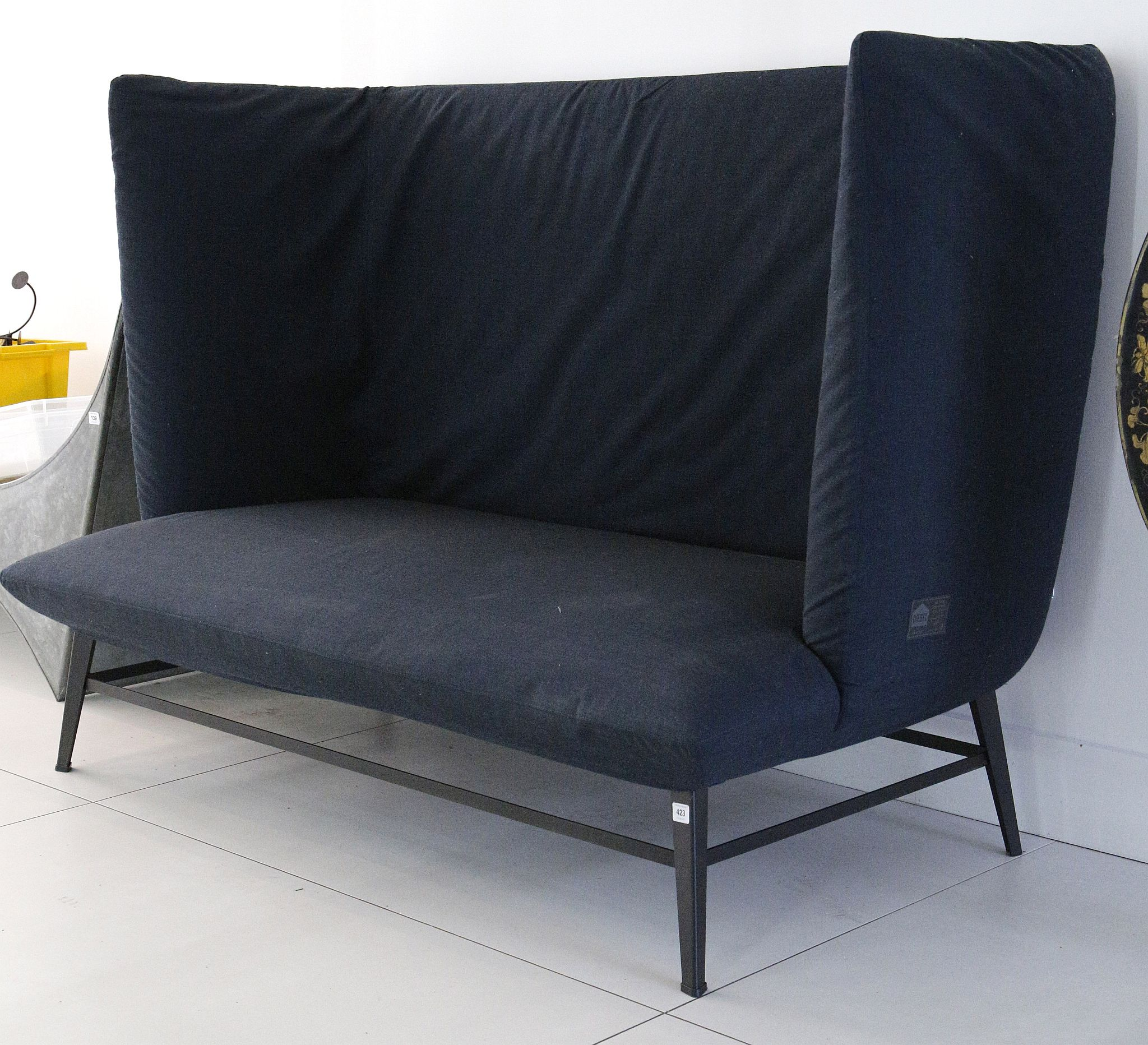 A MODERN DIESEL SOFA with Gimme shelter design produced in