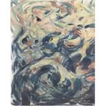 """Hennemann, Karl (1884 Waren-1972 Schwerin) """"Wildwasser"""", Aquarell, monogr. u. dat. '61u.r., 32x23"""