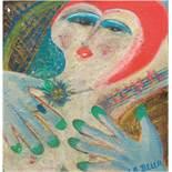 """Kemnitz, Max (1901-1974) """"La Bella"""", Öl/Hf., betitelt u.r., rücks. sign., 36x31 cm"""