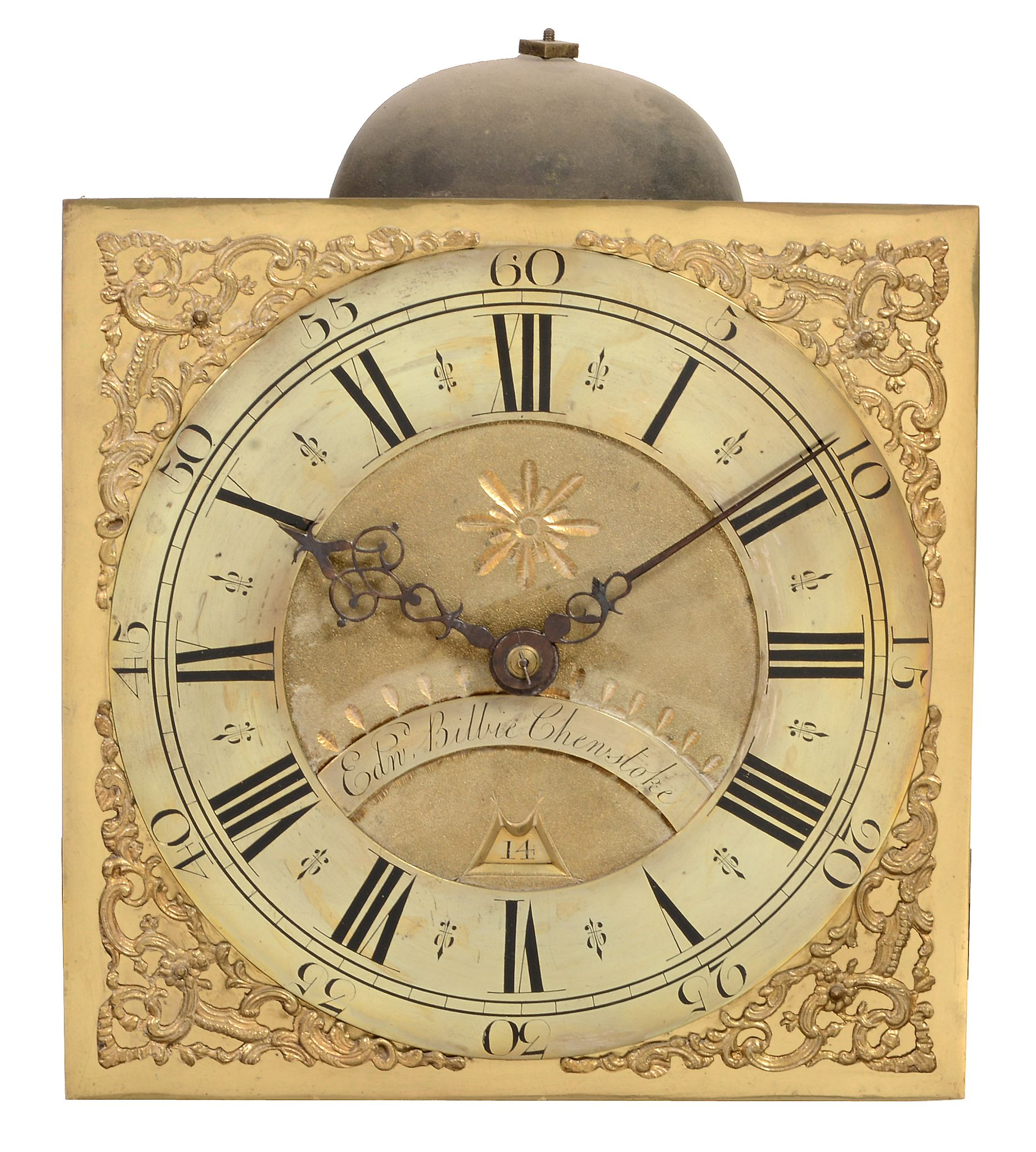 A George II oak thirty-hour longcase clock Edward Bilbie, Chew Stoke - Image 2 of 4