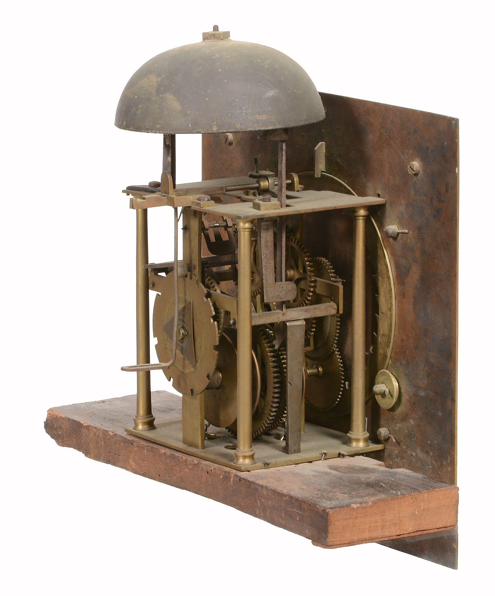 A George II oak thirty-hour longcase clock Edward Bilbie, Chew Stoke - Image 4 of 4