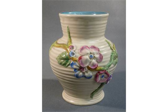 Clarice Cliff My Garden Baluster Vase 912 Stamped Newport Pottery