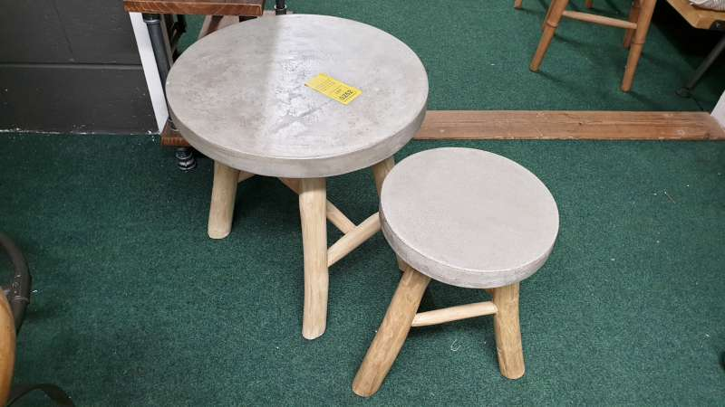 Lote 252 - SETS OF 2 MASAI TERAZZO OCCASIONAL TABLES GRANITE TOPPED LARGE / SMALL RRP £548 SET
