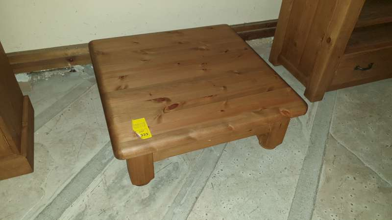 Lote 333 - SOLID WOODEN LOW JAPANESE COFFEE TABLE 75 X 64 X 28CM HIGH RRP £369