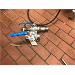 (2) Ball Valves, 1.5in and 2in | Rig Fee: $10