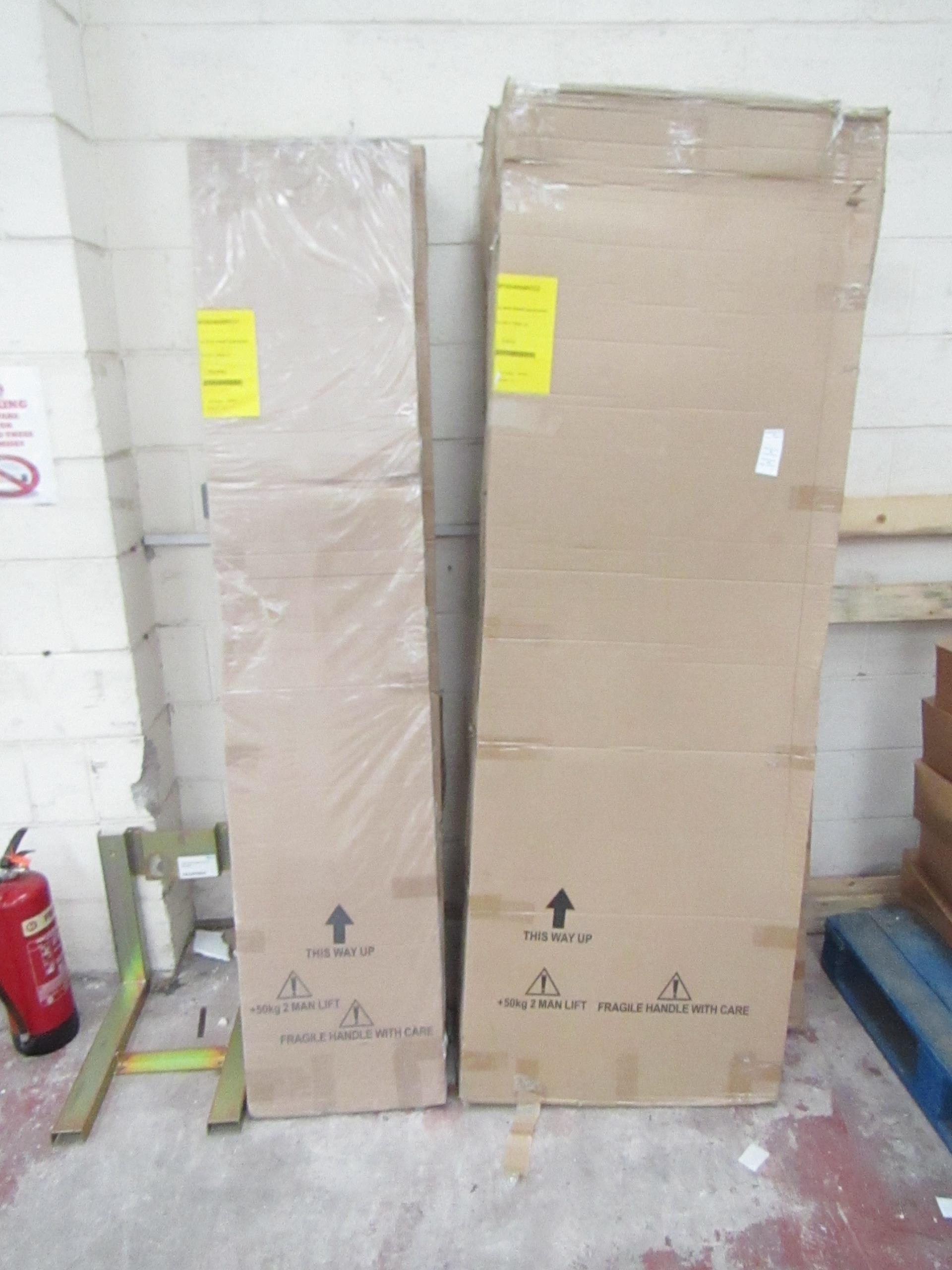 Manhattan glass Quad shower enclosure (no Tray), 1000x800m, unused and boxed, comes in 2 boxes which - Image 2 of 2