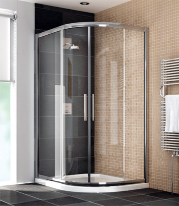 Lot 50 - Manhattan glass Quad shower enclosure (no Tray), 1200x800m, unused and boxed, comes in 2 boxes which