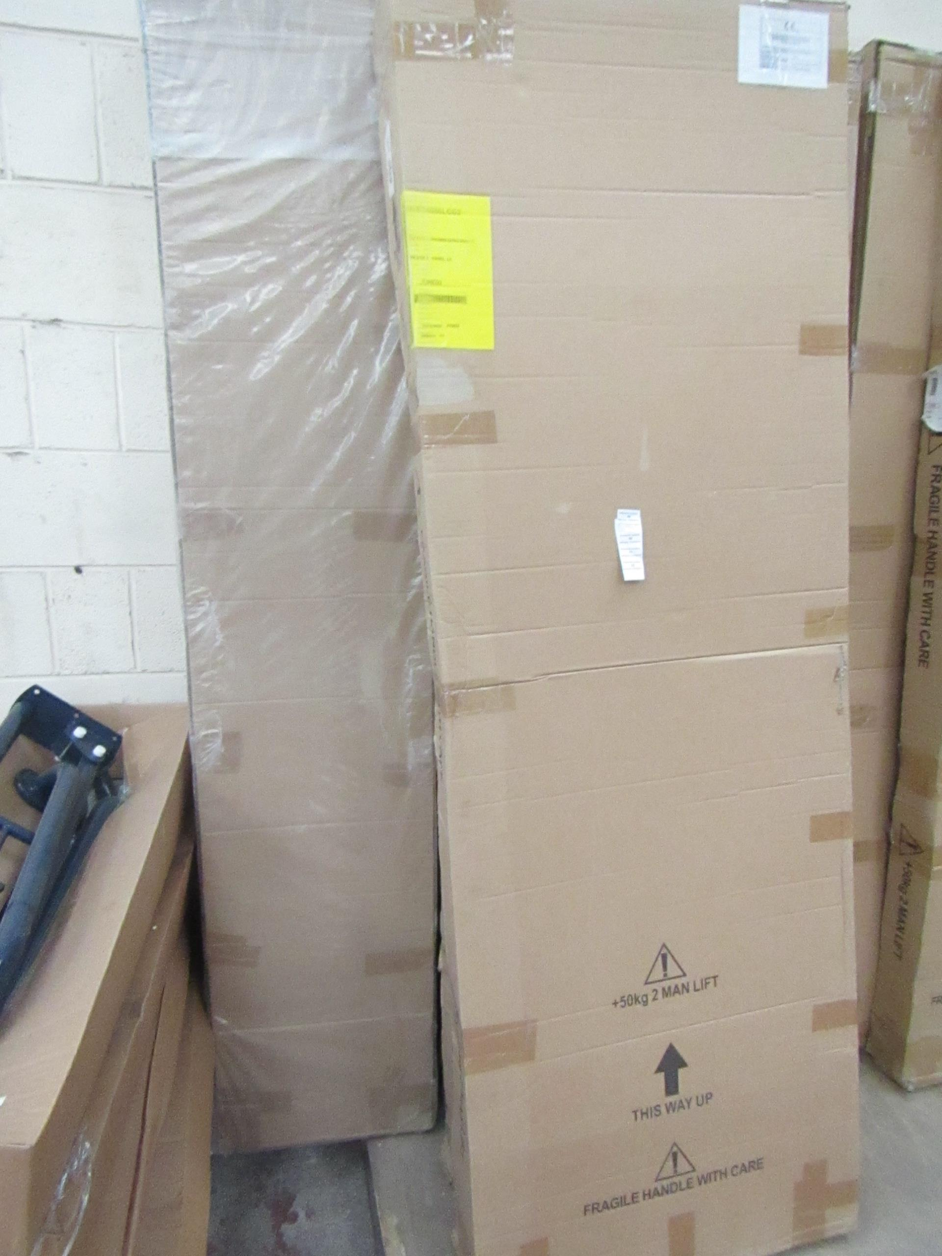 Manhattan glass Quad shower enclosure (no Tray), 1200x800m, unused and boxed, comes in 2 boxes which - Image 2 of 2