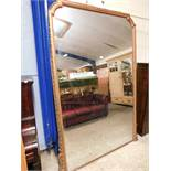 EXTREMELY LARGE 19TH CENTURY GILT FRAMED OVERMANTEL MIRROR 145CM WIDE X 210CM HIGH