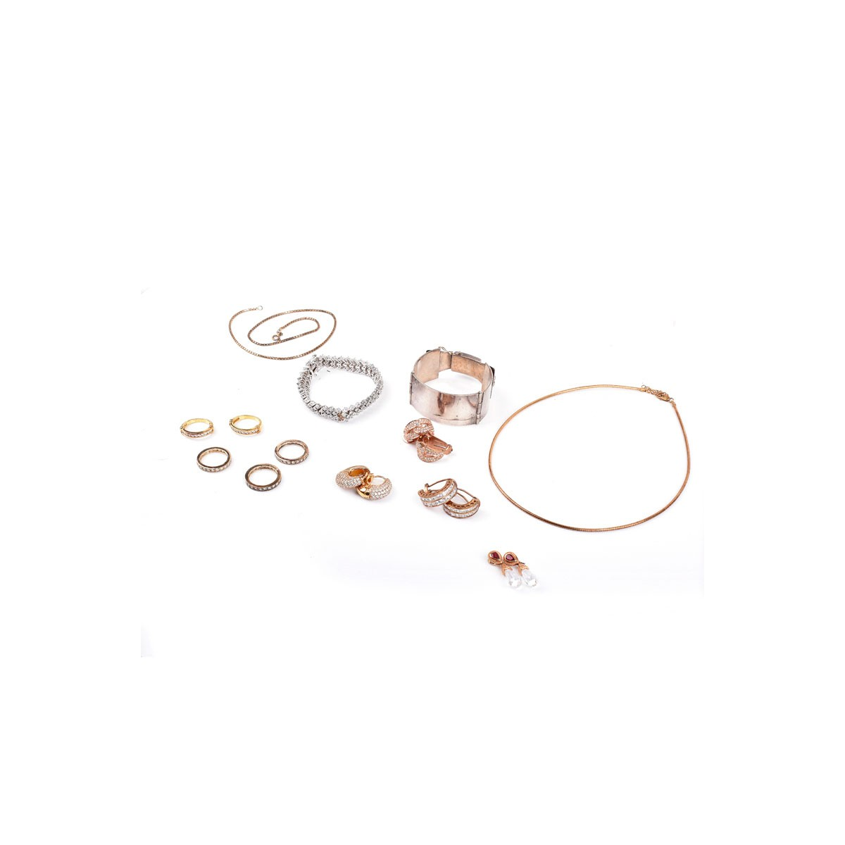 Lot 293 - Collection of Sterling Silver Jewelry Including Fa