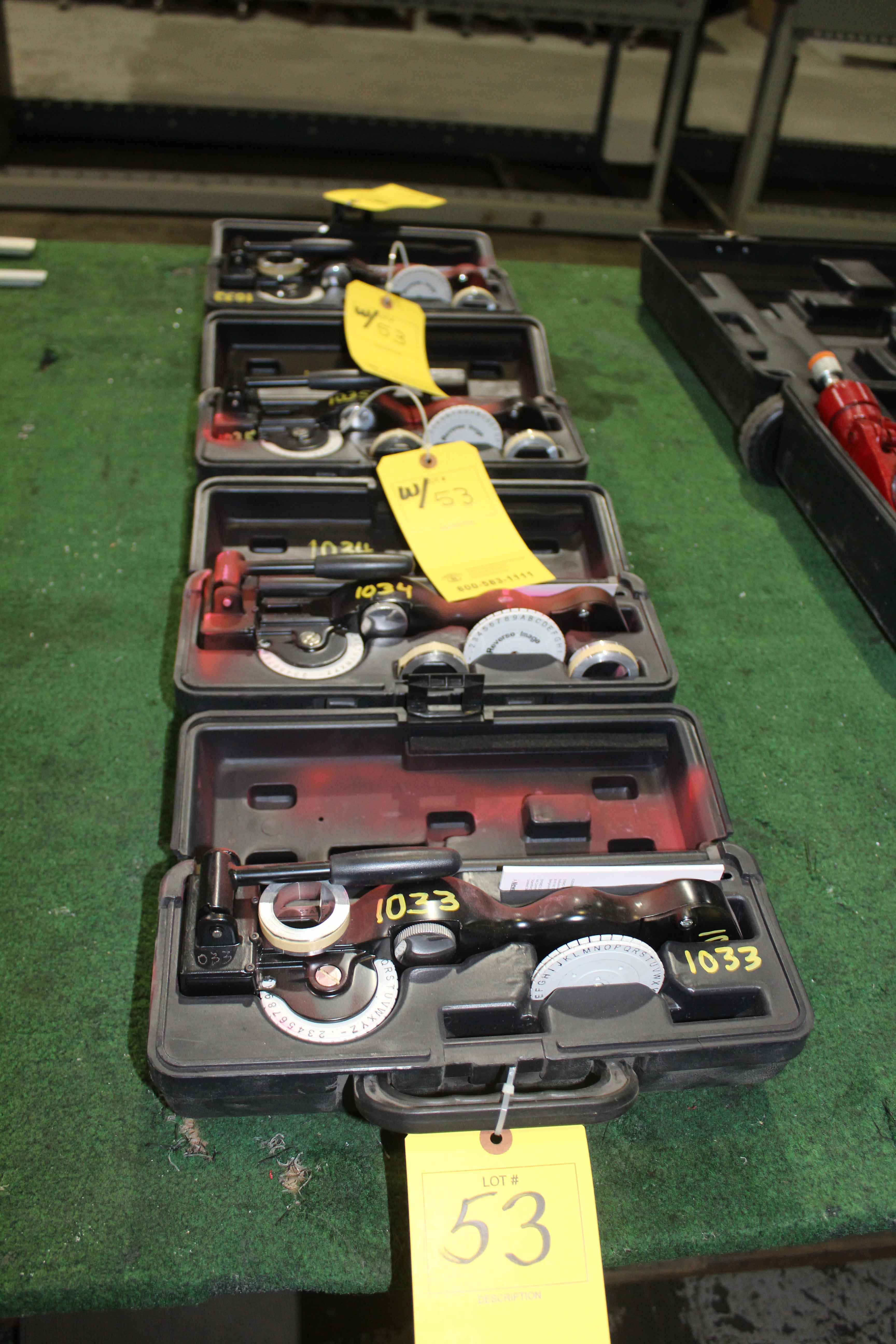 Lot 53 - LOT OF LABELING MACHINES (4), DYMO MDL. M1011