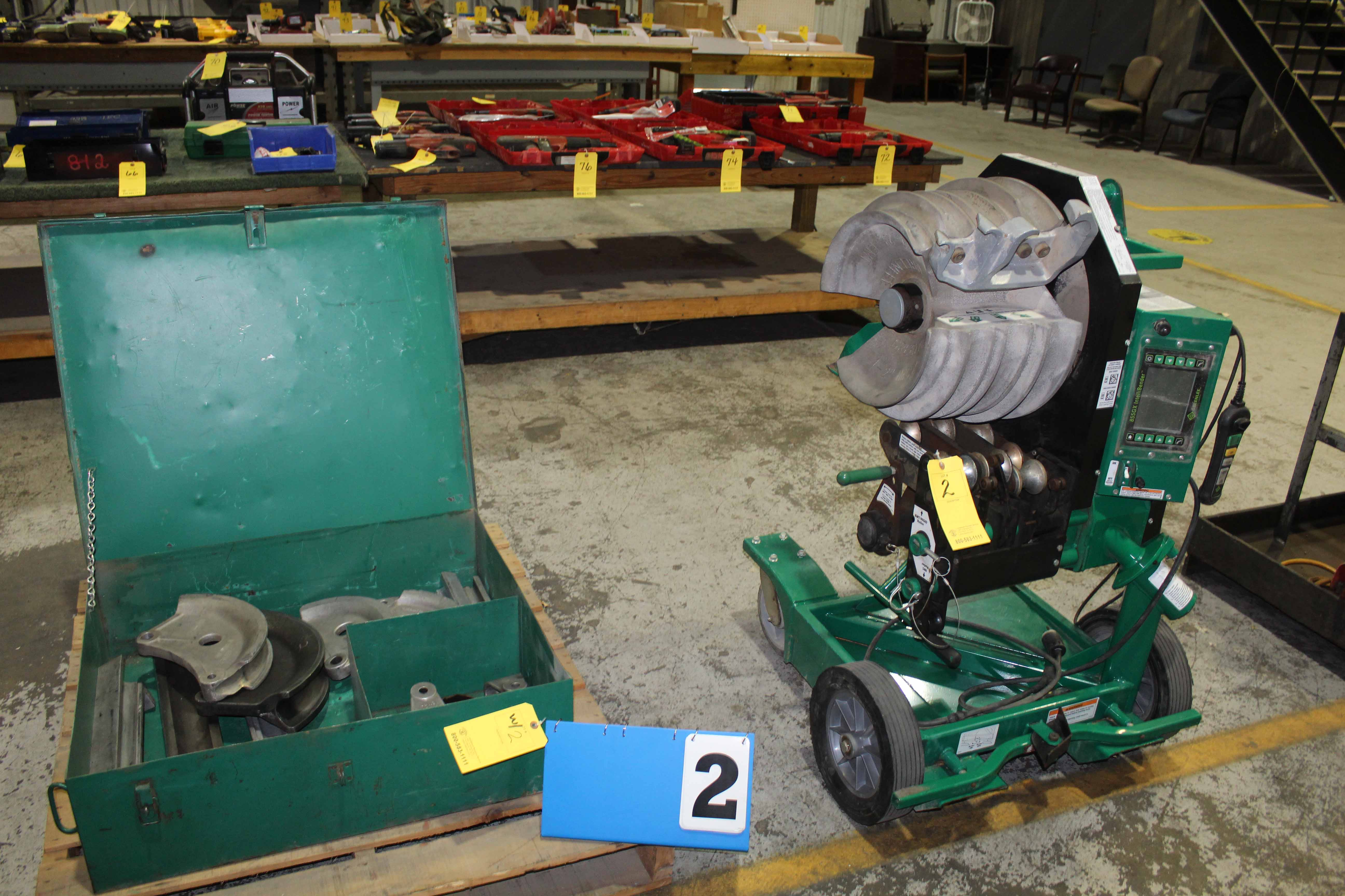 "Lot 2 - ELECTRIC CONDUIT BENDER, GREENLEE MDL 855GX ""Intellibender"", programmable, w/tooling"