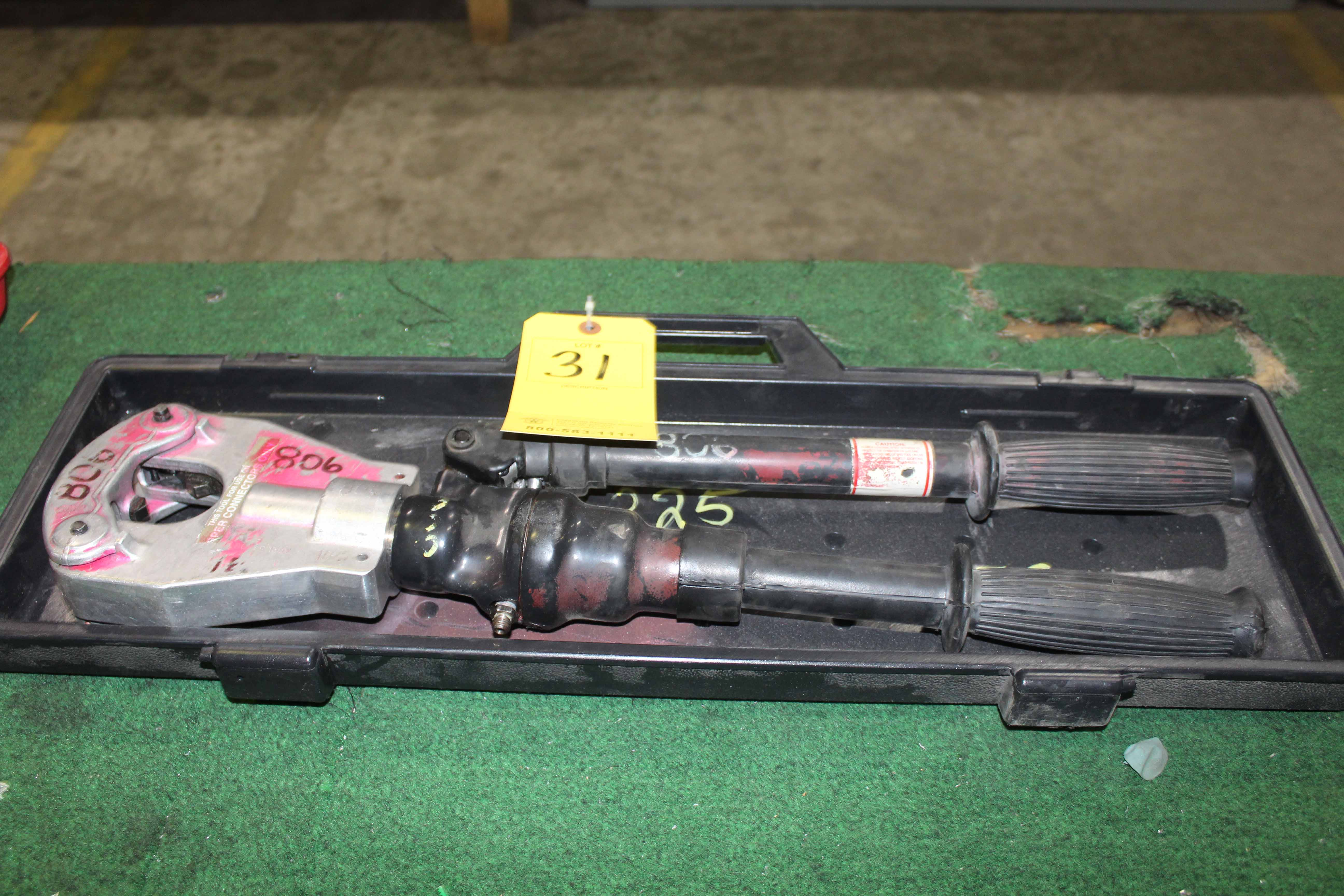 Lot 31 - CRIMPING TOOL, ANDERSON