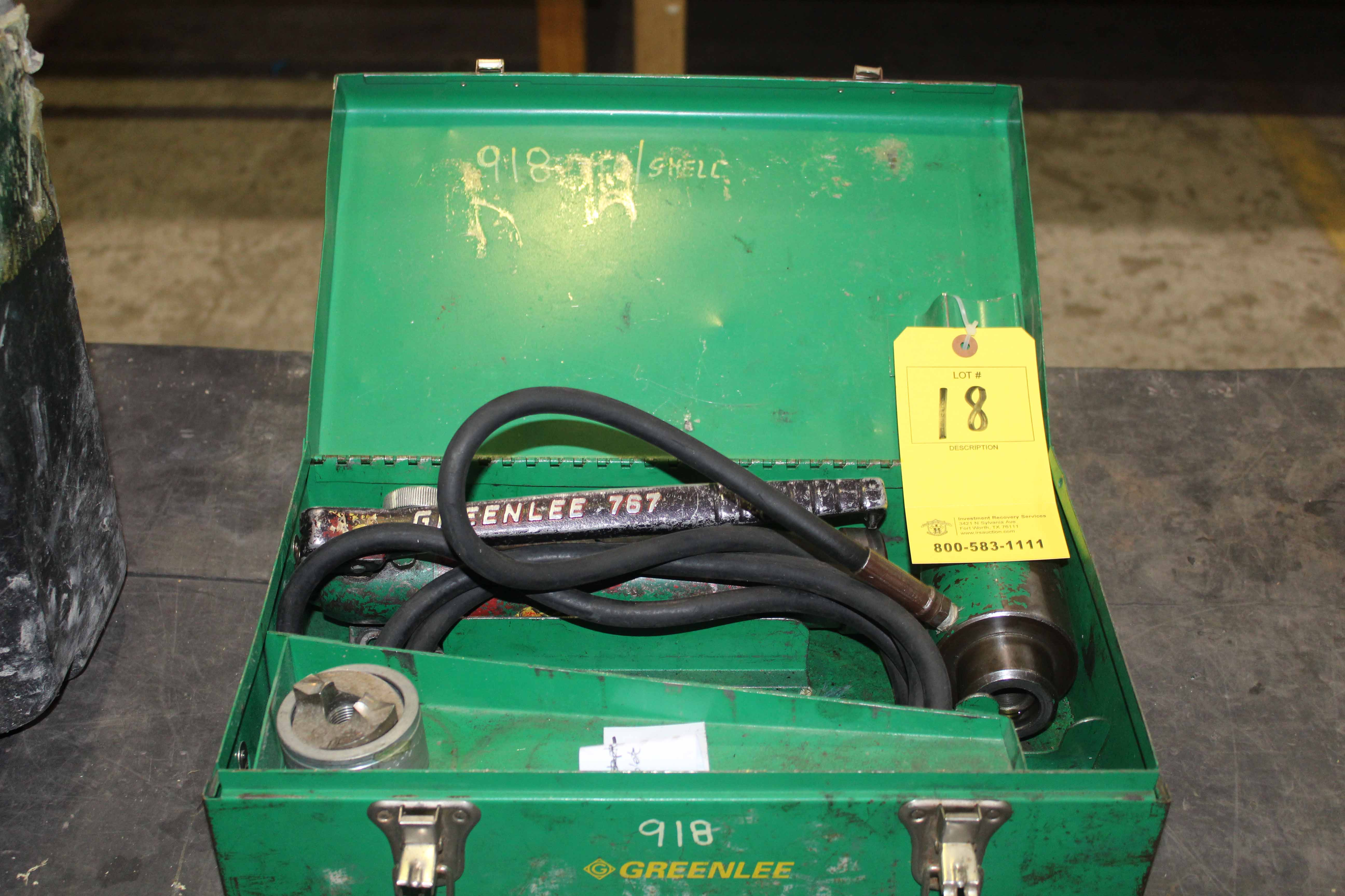 Lot 18 - POWER PUNCH, GREENLEE, w/tooling & case