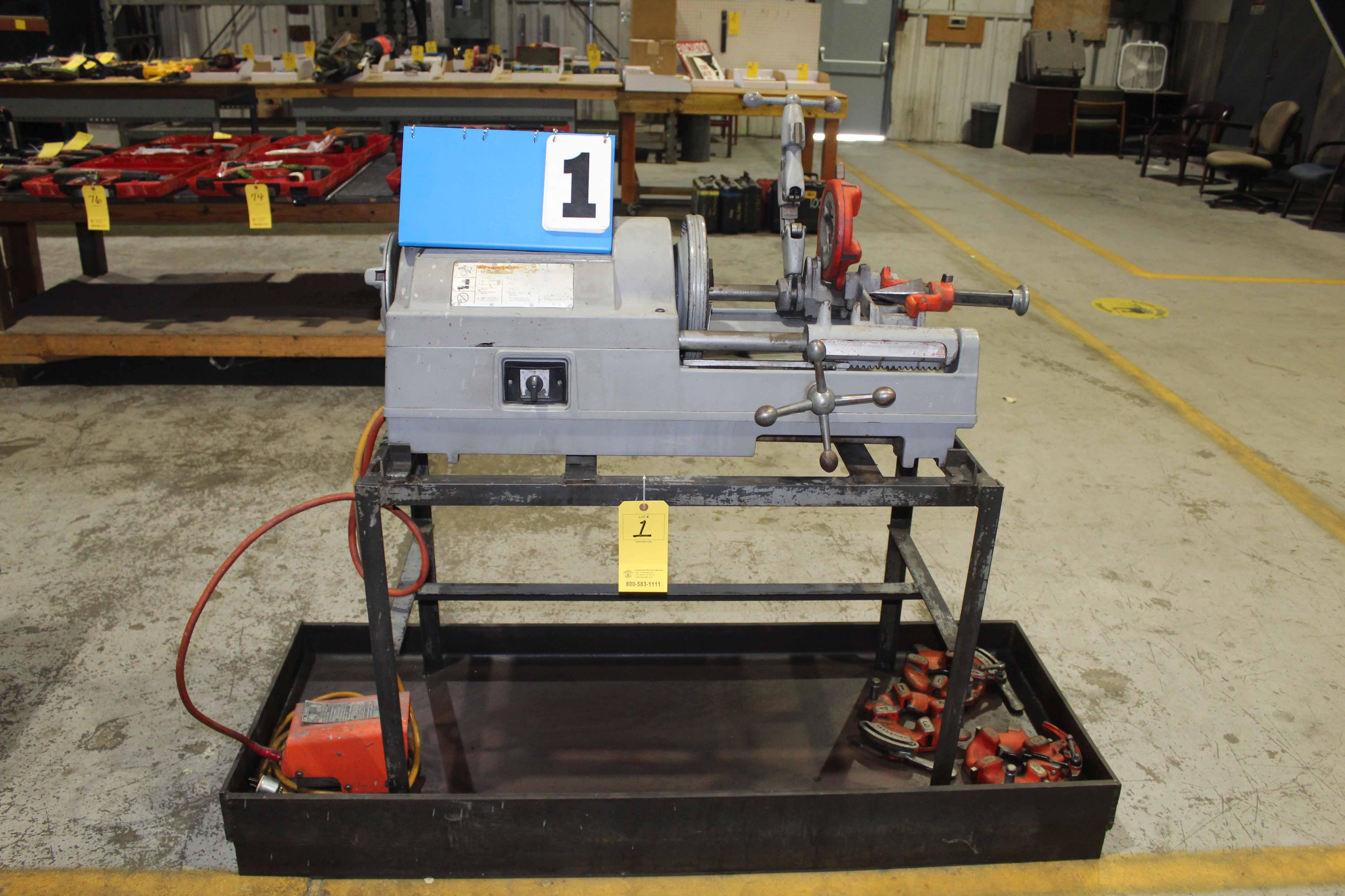 Lot 1 - PIPE THREADER, RIDGID MDL 535, w/tooling