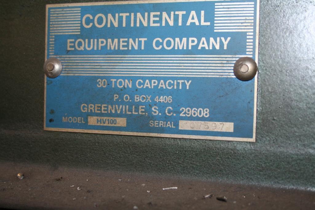"Lot 43 - Continental 30-Ton H-Frame Press, Model HV100, 24"" Wide"