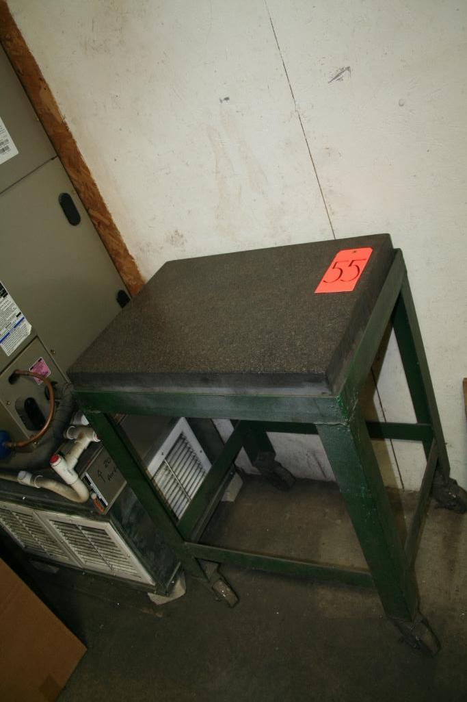 "Lot 55 - 24""x18""x4"" Roll Around Granite Inspection Table"