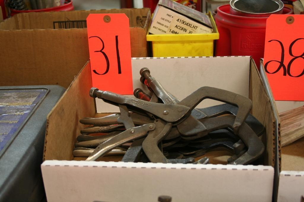 (7) Vise Grip Clamps