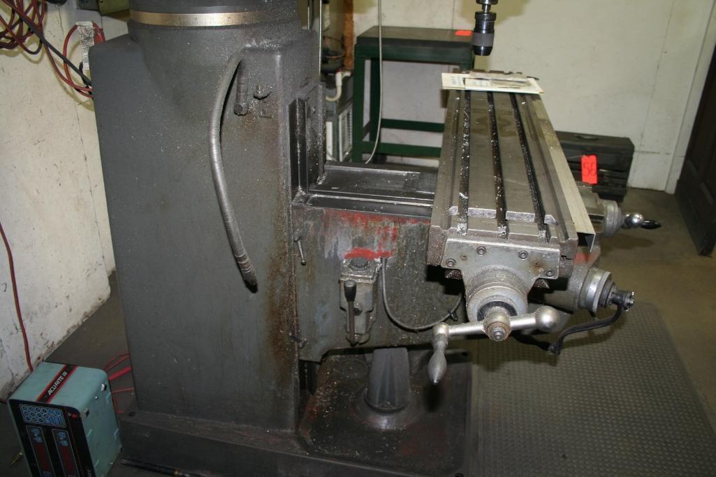 """Lagun Vertical Mill Power Cross Feed Model FTV-2, DRO, 9""""x48"""" Table, Vari-Speed, 220/440 - Image 5 of 6"""