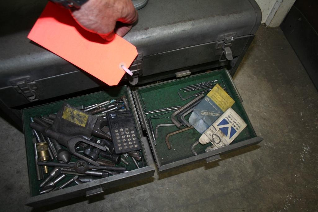Tool Box with Taps and Drills - Image 3 of 6